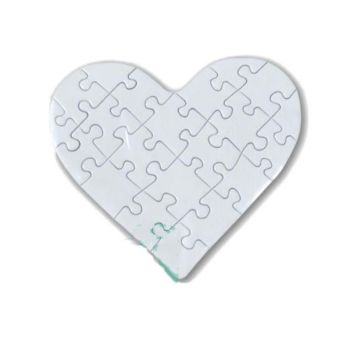 Personalised Puzzle Glossy Jigsaw Mini Heart - 10x9cm - 21pcs